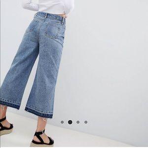 Boohoo petite crop wide leg jeans